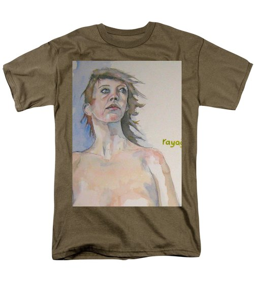 Men's T-Shirt  (Regular Fit) featuring the painting Sketch For Megan V by Ray Agius