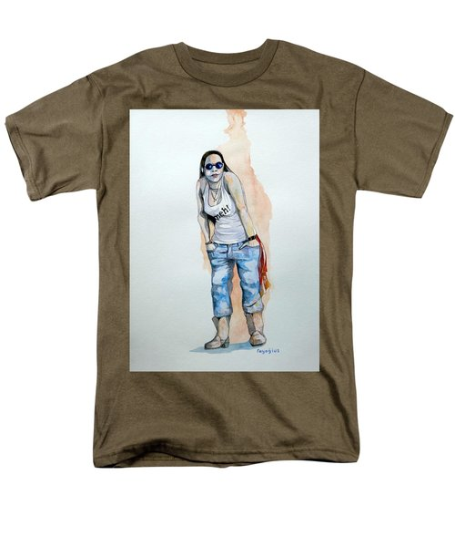 Men's T-Shirt  (Regular Fit) featuring the painting Sketch For Meh by Ray Agius