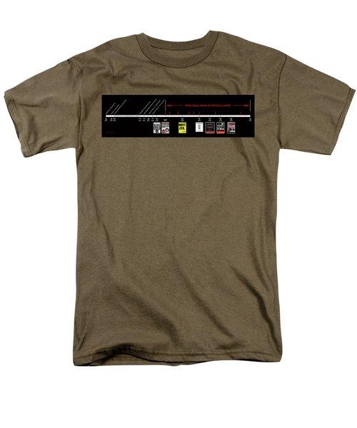 Skh Black Dahlia Inv. Time Line Men's T-Shirt  (Regular Fit) by Robert J Sadler