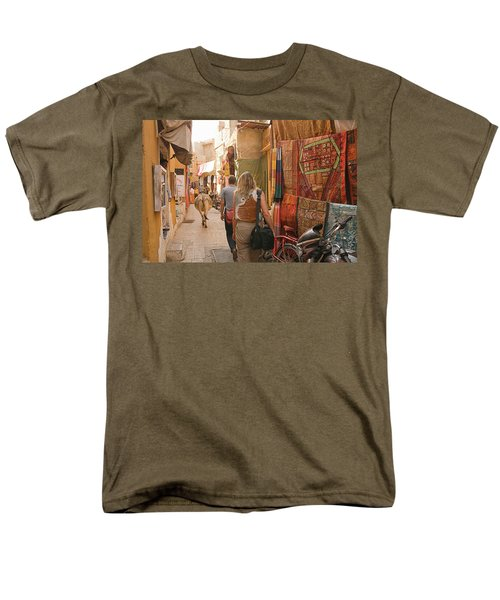 Skn 1226 The Squeezed Lane Men's T-Shirt  (Regular Fit) by Sunil Kapadia