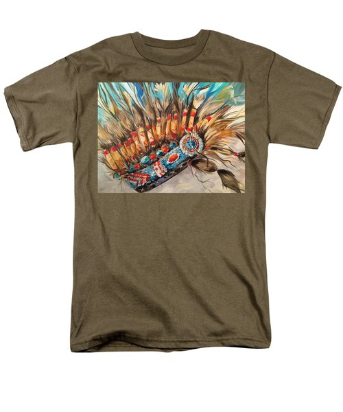 Sky Feather Detail Men's T-Shirt  (Regular Fit) by Heather Roddy
