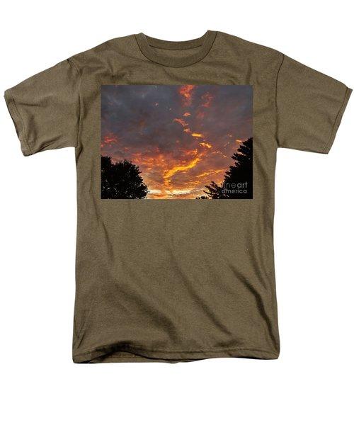 Sky On Fire Men's T-Shirt  (Regular Fit) by Christy Ricafrente