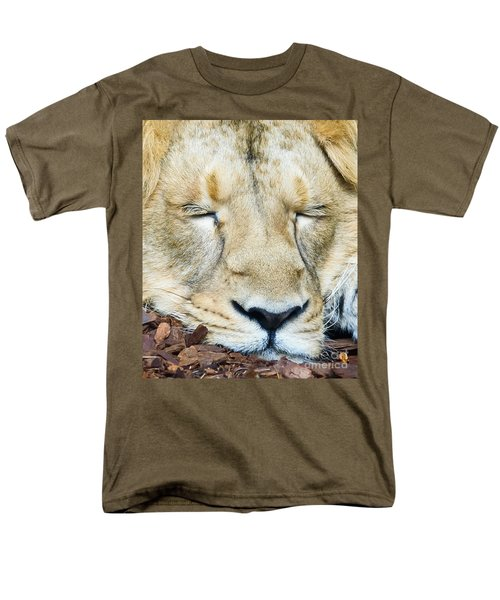 Sleeping Lion Men's T-Shirt  (Regular Fit) by Colin Rayner