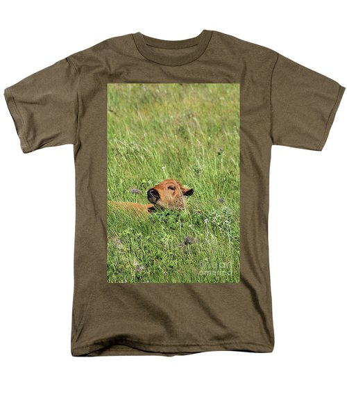 Men's T-Shirt  (Regular Fit) featuring the photograph Sleepy Calf by Alyce Taylor
