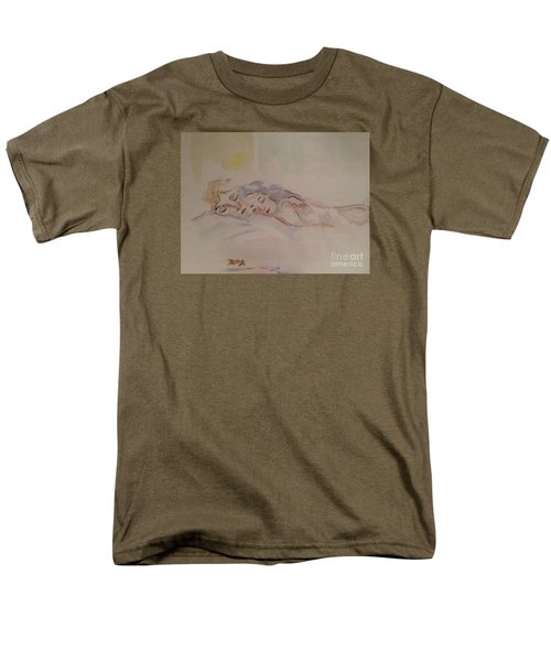 Men's T-Shirt  (Regular Fit) featuring the painting Sleepy Heads by Denise Tomasura