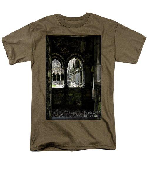 Men's T-Shirt  (Regular Fit) featuring the photograph Sligo Abbey Interior by RicardMN Photography