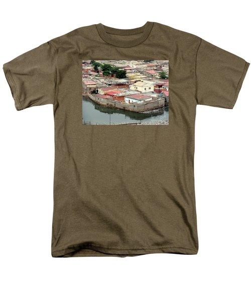 Slum In Luanda, Angola Men's T-Shirt  (Regular Fit) by John Potts