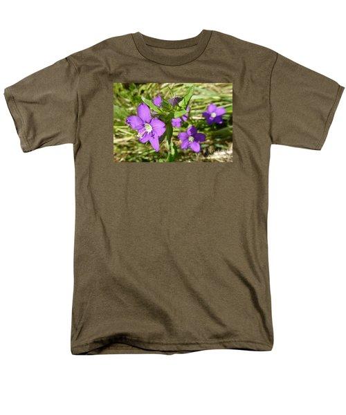 Men's T-Shirt  (Regular Fit) featuring the photograph Small Mauve Flowers by Jean Bernard Roussilhe