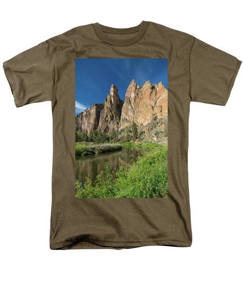 Smith Rock Spires Men's T-Shirt  (Regular Fit) by Greg Nyquist