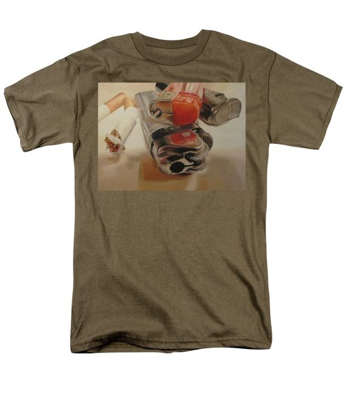Men's T-Shirt  (Regular Fit) featuring the painting Smoke Break by Cherise Foster