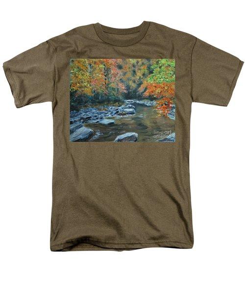 Smokey Mountain Autumn Men's T-Shirt  (Regular Fit) by Stanton Allaben