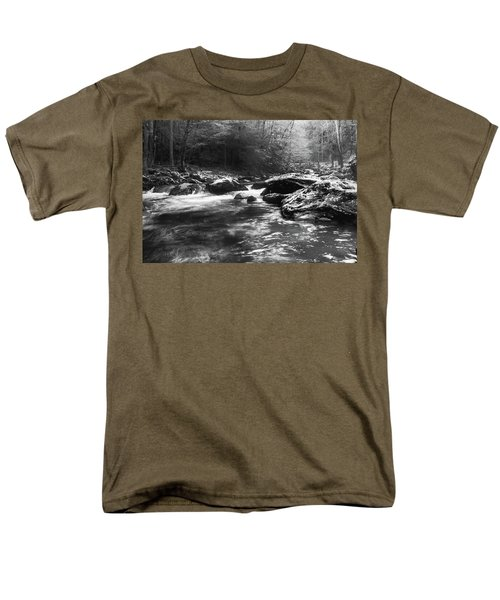 Men's T-Shirt  (Regular Fit) featuring the photograph Smoky Mountain River by Jay Stockhaus