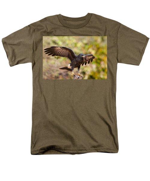 Snail Kite With Crab In Pantanal Men's T-Shirt  (Regular Fit) by Aivar Mikko