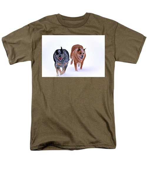 Snow Buddies Men's T-Shirt  (Regular Fit) by Elizabeth Winter