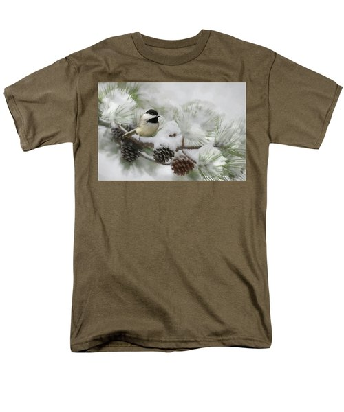 Men's T-Shirt  (Regular Fit) featuring the photograph Snow Day by Lori Deiter