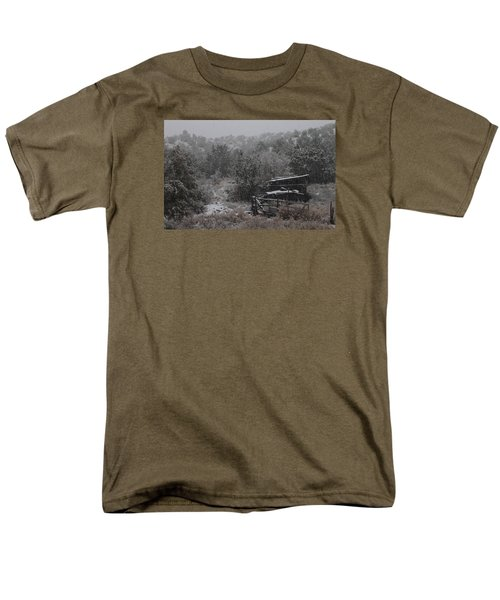 Snow In The Old Santa Fe Corral Men's T-Shirt  (Regular Fit) by Christopher Kirby
