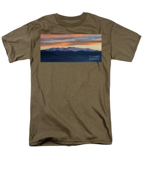 Snowcapped Miapor Range Under Golden Clouds, Armenia Men's T-Shirt  (Regular Fit) by Gurgen Bakhshetsyan