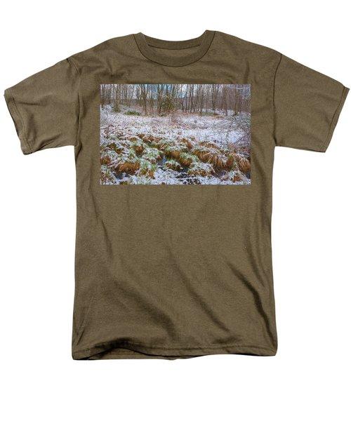 Snowy Wetlands Men's T-Shirt  (Regular Fit) by Angelo Marcialis