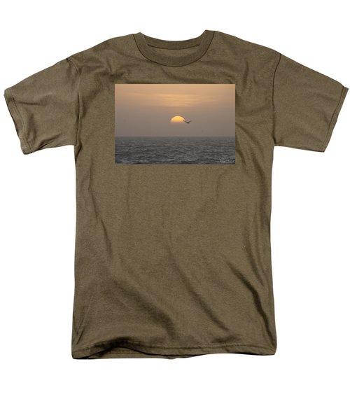 Men's T-Shirt  (Regular Fit) featuring the photograph Soaring Through Sunrise by Robert Banach
