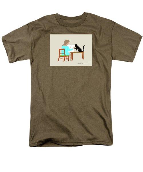 Socks Reads Sunday Paper Men's T-Shirt  (Regular Fit) by Fred Jinkins