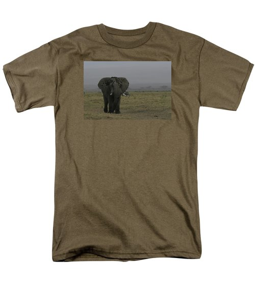 Men's T-Shirt  (Regular Fit) featuring the photograph Solitary Bull Elephant by Gary Hall