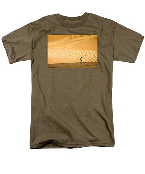 Men's T-Shirt  (Regular Fit) featuring the photograph Solitude In The Dunes by Rikk Flohr