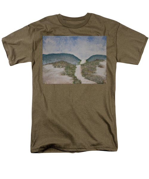 Men's T-Shirt  (Regular Fit) featuring the painting Somewhere In Florida by Antonio Romero