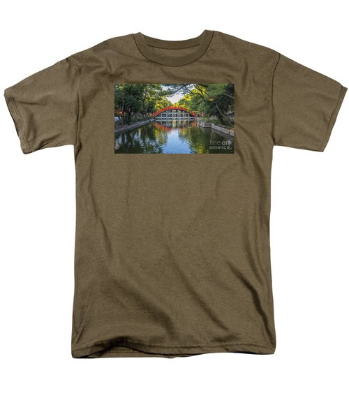 Men's T-Shirt  (Regular Fit) featuring the photograph Sorihashi Bridge In Osaka by Pravine Chester