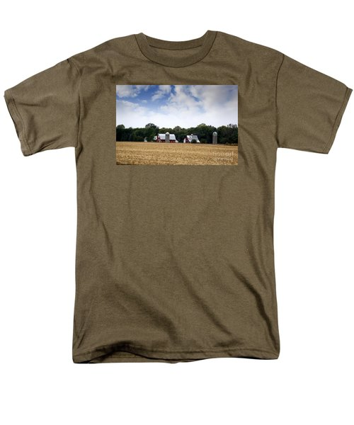 Men's T-Shirt  (Regular Fit) featuring the photograph South Dakota Barn by Yumi Johnson