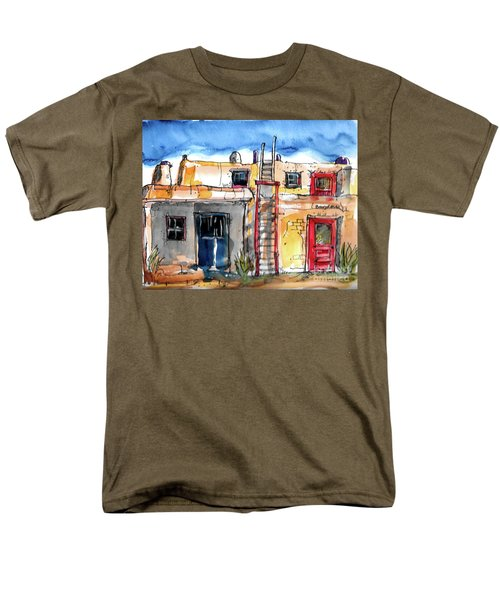 Men's T-Shirt  (Regular Fit) featuring the painting Southwestern Home by Terry Banderas