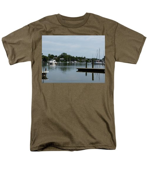 Spa Creek From The Park  Men's T-Shirt  (Regular Fit) by Donald C Morgan