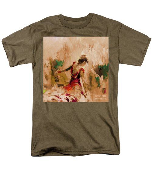 Men's T-Shirt  (Regular Fit) featuring the painting Spanish Dance Culture  by Gull G
