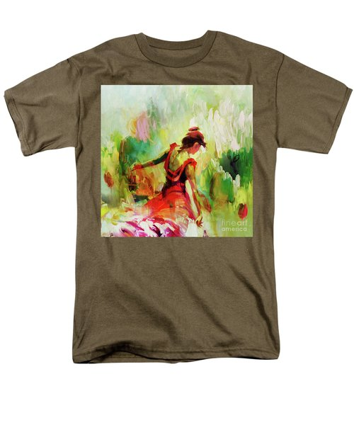 Men's T-Shirt  (Regular Fit) featuring the painting Spanish Female Art 56y by Gull G