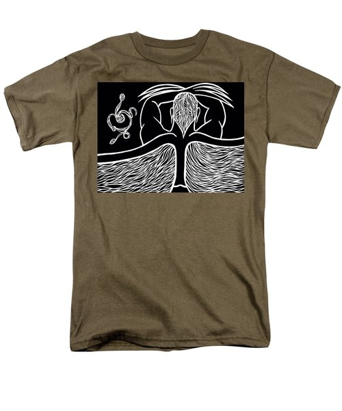 Men's T-Shirt  (Regular Fit) featuring the drawing Spirit II by Jamie Lynn