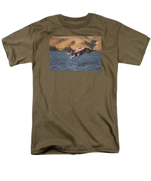 Men's T-Shirt  (Regular Fit) featuring the photograph Splash In 3...2...1.... by Brian Cross