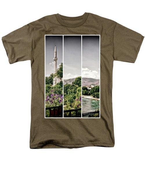 Split Landscape Men's T-Shirt  (Regular Fit) by Ana Mireles