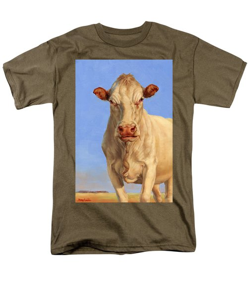 Men's T-Shirt  (Regular Fit) featuring the painting Spooky Cow by Margaret Stockdale