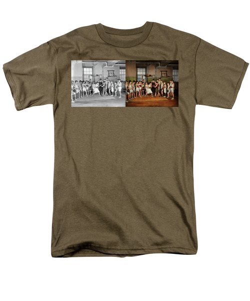 Men's T-Shirt  (Regular Fit) featuring the photograph Sport - Boxing - Fists Of Fury 1924 - Side By Side by Mike Savad