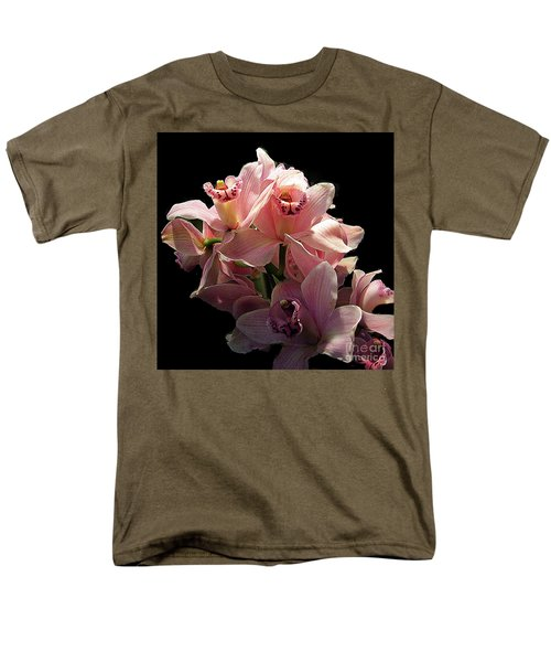 Spray Of Pink Orchids Men's T-Shirt  (Regular Fit) by Merton Allen