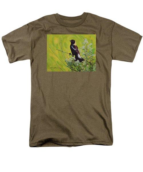 Spring Bobolink Men's T-Shirt  (Regular Fit) by Bruce Morrison