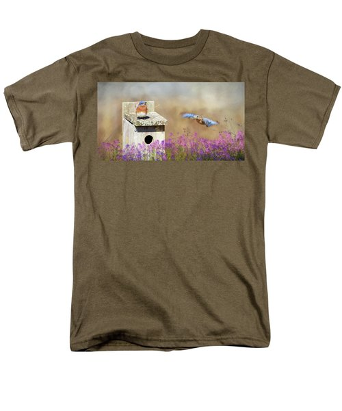 Men's T-Shirt  (Regular Fit) featuring the photograph Spring Builders by Lori Deiter
