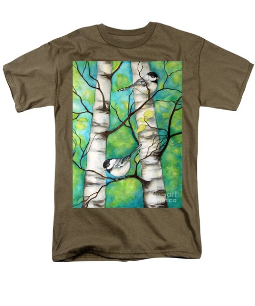 Spring Chickadees Men's T-Shirt  (Regular Fit) by Inese Poga
