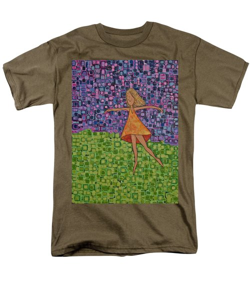 Men's T-Shirt  (Regular Fit) featuring the painting Spring by Donna Howard