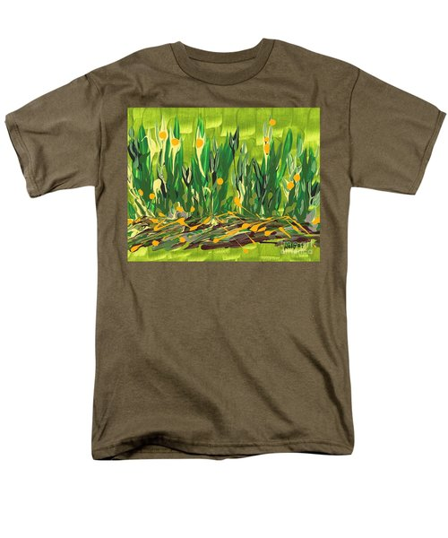 Men's T-Shirt  (Regular Fit) featuring the painting Spring Garden by Holly Carmichael