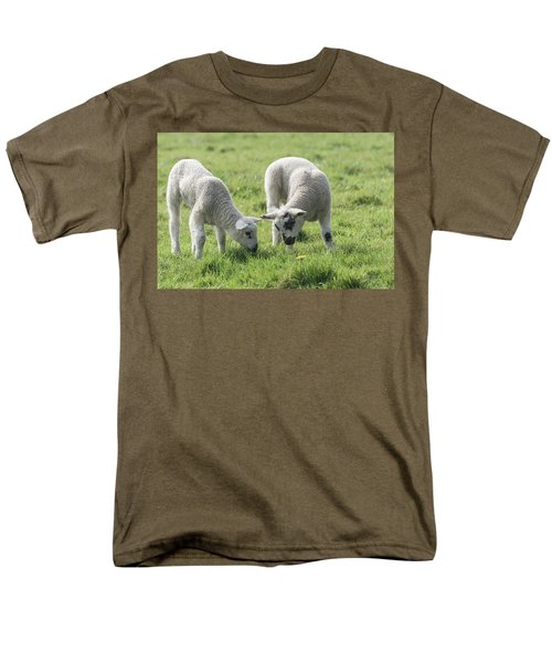 Men's T-Shirt  (Regular Fit) featuring the photograph Spring Lambs by Scott Carruthers