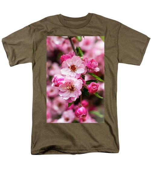 Spring Pink Men's T-Shirt  (Regular Fit) by Teri Virbickis