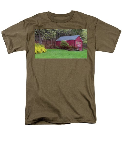 Men's T-Shirt  (Regular Fit) featuring the photograph Spring Tobacco Barn by Bill Wakeley