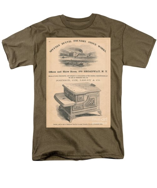 Men's T-Shirt  (Regular Fit) featuring the photograph Spuyten Duyvil Stoveworks  by Cole Thompson