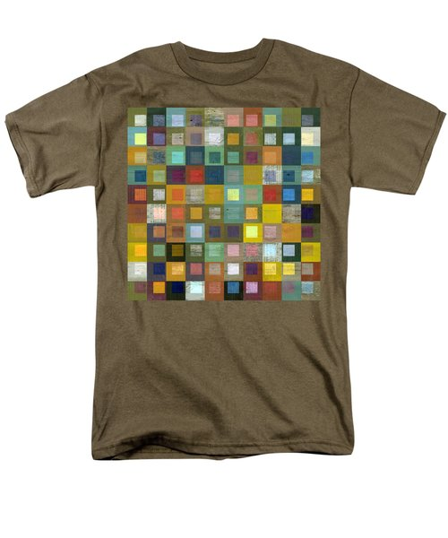 Men's T-Shirt  (Regular Fit) featuring the digital art Squares In Squares Five by Michelle Calkins