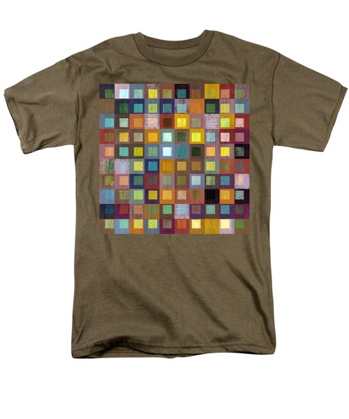 Men's T-Shirt  (Regular Fit) featuring the digital art Squares In Squares One by Michelle Calkins